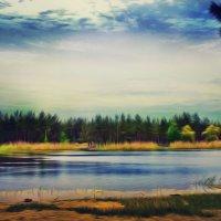 Нереальная реальность. Ломоносовское озеро. Красный Лиман :: Алёна Дягелева