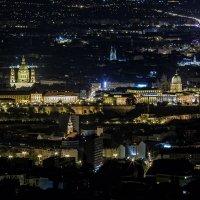 Ночной Будапешт с высоты :: Ростислав Бычков