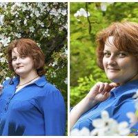 девушка, цветущие деревья :: Екатерина Буслаева Буслаева
