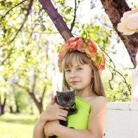 Маленькая нимфа и котенок )) :: Мария Дергунова