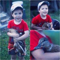 Малыш и утка :: Анастасия Симак