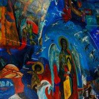 Георгий Победоносец и Архангел Михаил. Роспись храма. :: Нелли *