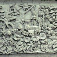 Фрагмент стены посольства Камбоджи в Бангкоке :: Наталья Нарсеева