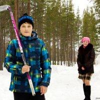 Мама и сын-хоккеист :: Алиса Кондрашова