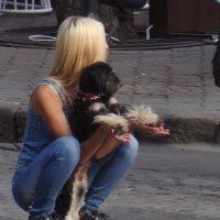 Девушка с собакой. :: Андрeй Владимир-Молодой