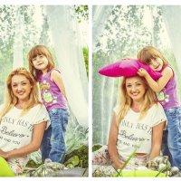 Семья, любовь, мама и дочка, нежность :: Екатерина Буслаева Буслаева