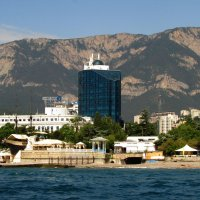 "Вид с моря на гостиницу "" 5 элемент"" :: Marina Timoveewa"