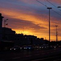 Закат в Варшаве :: Елена Рязанова