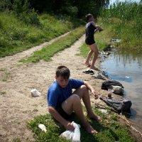 Рыбалка на пруду. :: Ирина Прохорченко