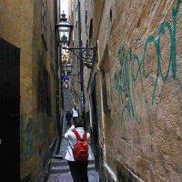Самая узкая улица Стокгольма. :: Александр Лейкум