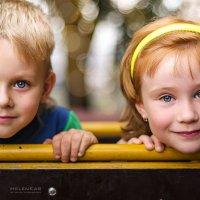 Детки. Дениска и Машенька. :: Елена Каспар
