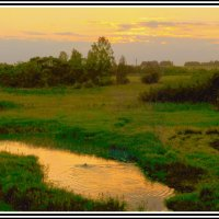 Вечерний закат на реке Сож. :: Игорь