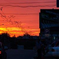 Закат в Новосибирске :: Alexey Bogatkin