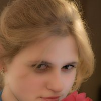 Девушка с розой :: Дмитрий Лебедихин