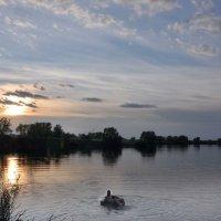 закат на пруду :: павел бритшев