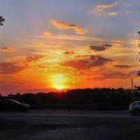 Августовский закат над дорогой... :: Тамара (st.tamara)