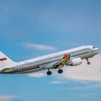 Airbus A320-214 в ретро-ливрее Аэрофлота. :: Владимир Клещёв