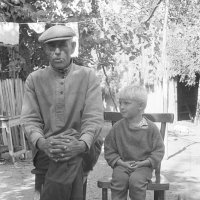 Дед и внук. :: Олег Афанасьевич Сергеев