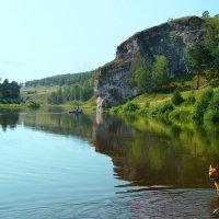 река Уфа 7 августа 2014 скала Роговик :: Рыжик