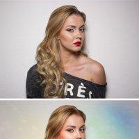 цветные лучики (до и после) :: Veronika G