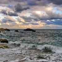 морской пейзаж на закате :: valeriy g_g