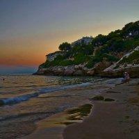 Вечерний пляж в Салоу. :: Сергей Андреев