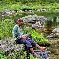 мраморное озеро в Ергаках :: sergey fedossoff