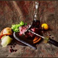 Натюрморт с сырым мясом. :: Елена Прихожай