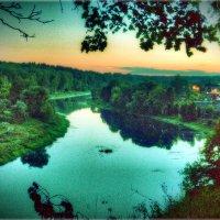 река Руза,на закате :: Андрей Куприянов