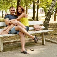 На скамейке вдвоём. :: Владимир Болдырев