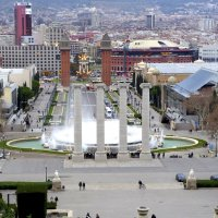 The view over Barcelona from Montjuïc :: Olga Rzyanina