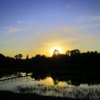За рекой , за лесом солнышко садится . :: Мила Бовкун