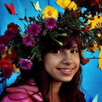 Девушка в цветочном венке :: Александр Облещенко