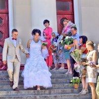 Были вы жених и невеста, а теперь стали муж и жена! :: Валентина ツ ღ✿ღ