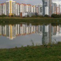 Зеркальное отражение города. :: Валентина Жукова