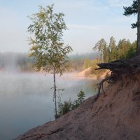 Песчаный карьер утром :: Злата Красовская