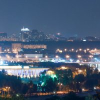 Огни ночной Москвы :: Евгений Симохин