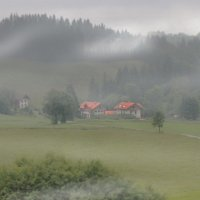 Туманное утро в Альпах :: Дмитрий Лебедихин