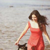 Девочка и волчица :: Полина Гончарова