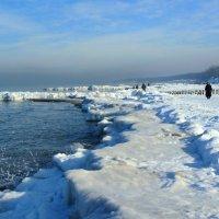 Прогулка по зимнему пляжу :: Сергей Карачин