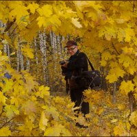 Окошко в осень. :: Ирина Нафаня