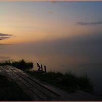 Раннее утро на оз.Плахино. :: Владимир Михайлович Дадочкин
