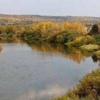 Река Чусовая, вид с огорода. :: Пётр Сесекин