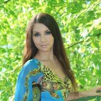 Woman in blue :: Oksana Nesterova