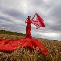 девушка в красном :: Валерий