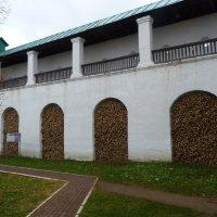 Дровохранилище в  стене Спасо-Яковлевского  монастыря :: Galina Leskova