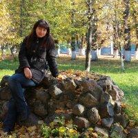 Девушка с веслом ( была на  этом месте) :: vladimir воронов