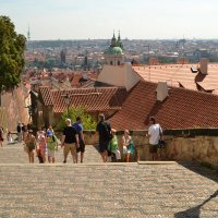 Praha, staré zámecké schody :: Dorosia