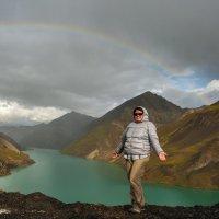 Под радугой. Озеро Бога, Тибет. :: Ирина Токарева