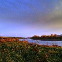 Река,берег,оранжевый закат. :: Владимир Михайлович Дадочкин